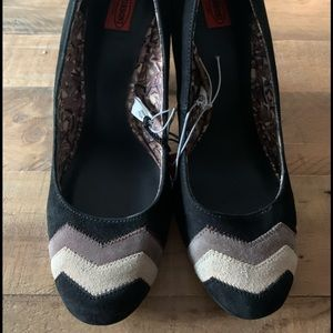 NWT: Missoni for Target Black Suede Pumps Size 9